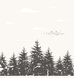 forest landscape5 vector image