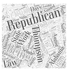 Fred Thompson Republican Word Cloud Concept vector