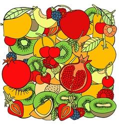 Fruit Pattern Background vector image
