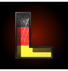 Germany cutted figure l vector