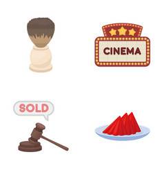 hairdresser shopping and other web icon in vector image