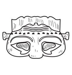 halloween zombie mask vector image