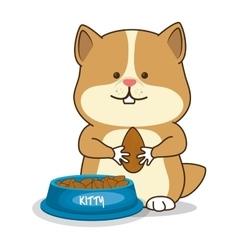 Hamster pet shop icon vector