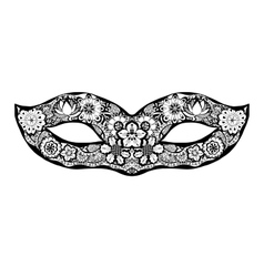 Hand drawn mask vector image