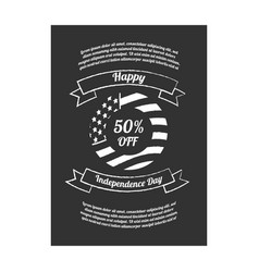 Happy independence day sale banner vector