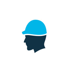 head protection icon colored symbol premium vector image