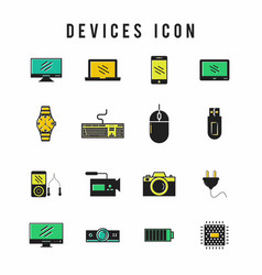 icons for technology electronic devices vector image
