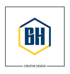 Initial letter bh logo template design vector
