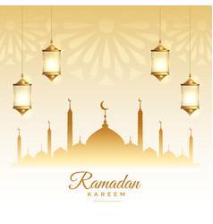 Islamic ramadan kareem season festival card design vector