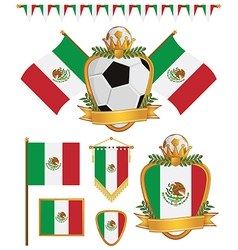 mexico flags vector image