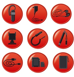 mobile devices accsessories vector image