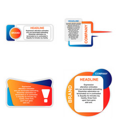 Modern elements infographic template for your vector