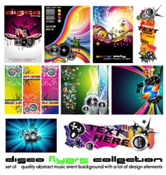 music background set vector image