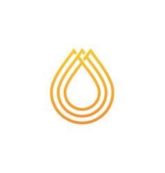 oil honey drop logo icon vector image