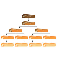 orange business structure concept vector image