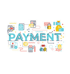 Payment word lettering vector