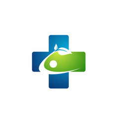 people health medicine plus logo symbol icon vector image