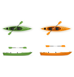 plastic kayak for fishing and tourism vector image
