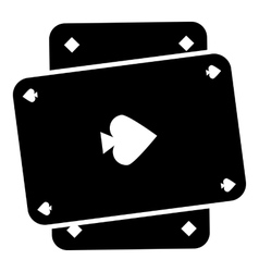 Playing card icon simple style vector