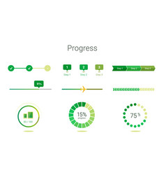 Progress bar user interface design vector