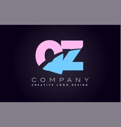 Qz alphabet letter join joined letter logo design vector