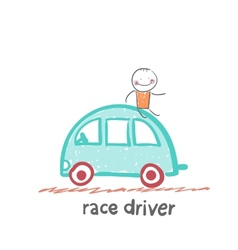 race driver vector image