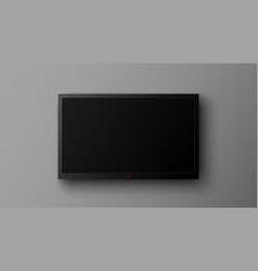 realistic led television screen on gray vector image