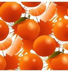 Ripe mandarin pattern vector