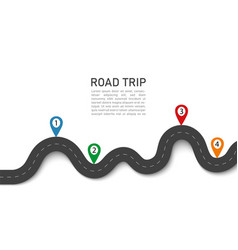 road trip 3d journey with gps navigation location vector image