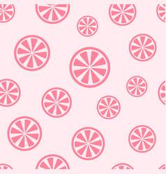 rose grapefruit pattern seamless background vector image