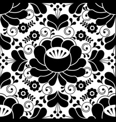 Russian seamless folk pattern traditional black a vector