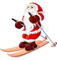 Santa Claus painted on a white background vector image