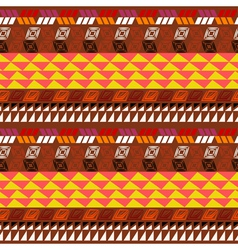 Seamless pattern with Aztec drawing vector image