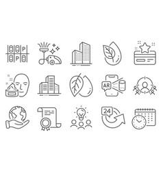 set business icons such as business targeting vector image