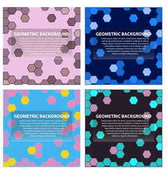 set of of abstract geometric pattern and vector image