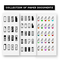 Set of program file formats iconsfile extensions vector