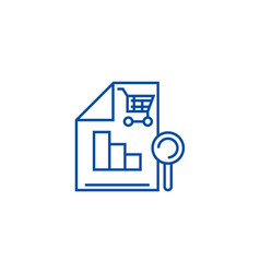 shopping analysis line icon concept shopping vector image