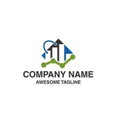 shopping bag financial logo marketing icon logo vector image