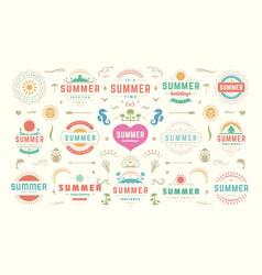 summer labels and badges design set retro vector image