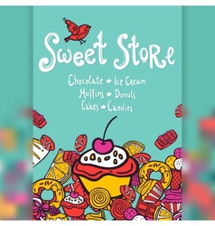 Sweet Store Background vector image