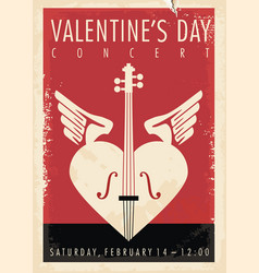 valentines day music concert artistic poster desig vector image