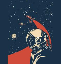 Vintage galaxy colorful poster vector