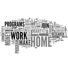 work at home common mistakes text word cloud vector image