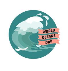 world ocean day card vector image