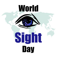 World sight day concept vector