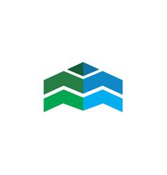 Abstract arrow business logo vector