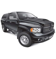 black large pickup vector image