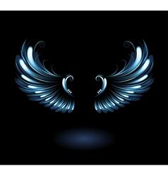 glowing angel wings vector image
