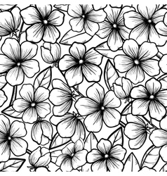 seamless background Blossoming branches of trees vector image