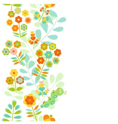 Seamless floral border background vector image vector image